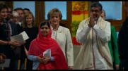 HE NAMED ME MALALA: (From L-R) Malala Yousafzai, Inger-Marie Ytterhorn and Kailash Satyarthi at the Nobel Peace Prize Ceremony, Oslo Norway. Dec 10, 2014. Photo courtesy of Fox Searchlight Pictures.© 2015 Twentieth Century Fox Film Corporation All Rights Reserved