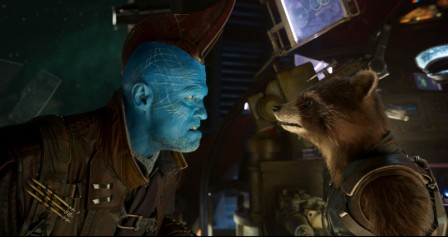 Guardians Of The Galaxy Vol. 2 L to R: Yondu (Michael Rooker) and Rocket (voiced by Bradley Cooper) Ph: Film Frame ©Marvel Studios 2017